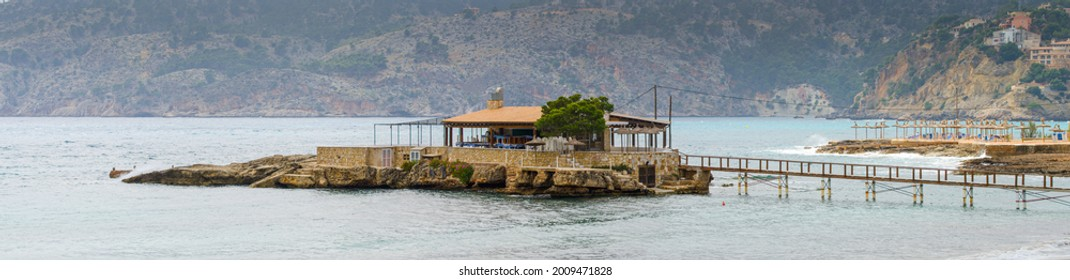 Island in the bay of camp de mar
