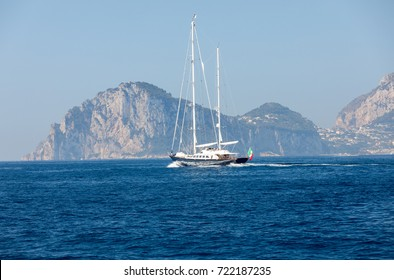 The Island of Capri is a very picturesque, luxuriant and extraordinary location in Italy famous for its high rocks.