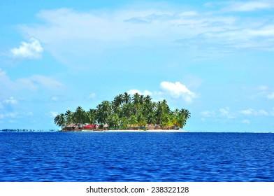 Island in the caribbean sea