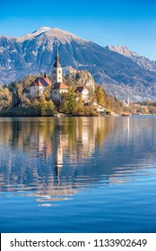 Island with a church in Bled, Slovenia