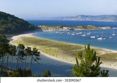 Island of Cies, atlantic coast, Spain