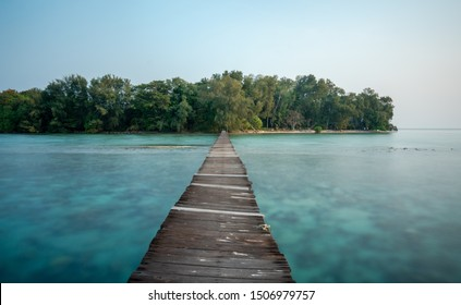 Island dock at Kotok Island, Thousand Island Jakarta, Indonesia. Hope all of you enjoy this picture.