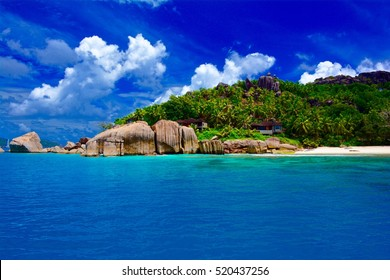 The island of Felicite, Seychelles