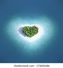Island in the form of heart