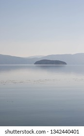 The island of Golem Grad on Lake Prespa (snake island)