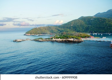 The Island Of Haiti. Caribbean. The beaches of Haiti are some of the very best throughout the world map. It's exotic nature, amazing beauty of coral reefs, hundreds of kilometers of white beaches.
