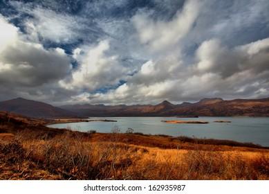 The island of Kodiak, Alaska.