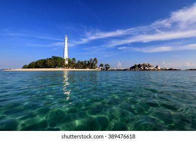 island Lengkuas at Belitung Indonesia