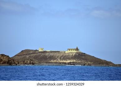 island of Lobos, Las Palmas/Canary Islands - 09/15/2015: View of the coast of the island of Lobos, is an islet of the Atlantic Ocean in the north of Fuerteventura in the Canary Islands