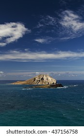 island of Manana against blue sky
