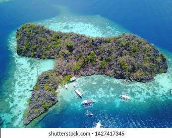 Island in the middle of the sea