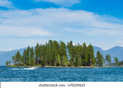 Island in Montana's Flathead Lake