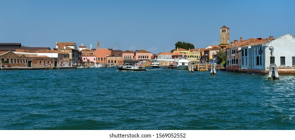 The island Murano in Venice, Italy. Famous for decorative-glass production.