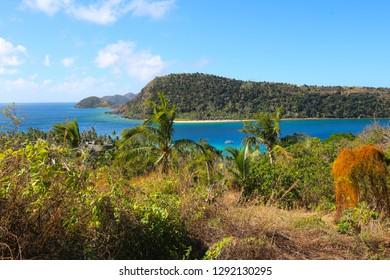 The island of Naukacuvu and in the background the island of Nanuya Balavu, Yasawa, Fiji