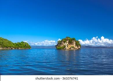 Island near the Samana shore, Dominican republic.