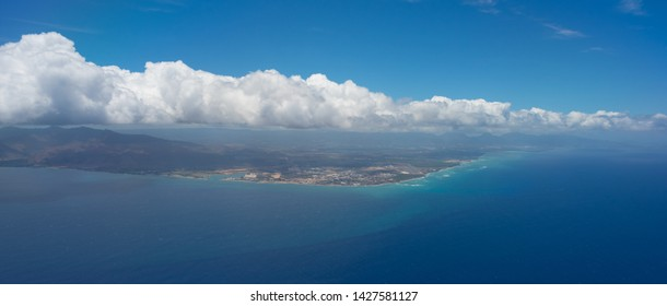 Island of Oahu From The Air