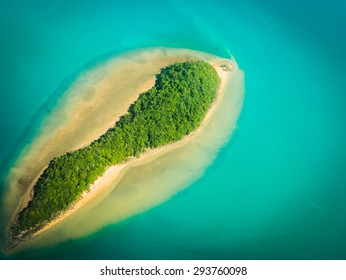 island on the blue sea in Phuket Thailand