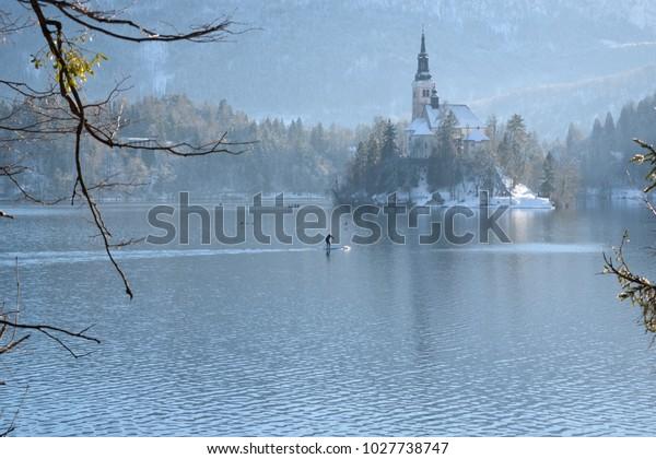Island On Lake Bled Slovenia On Stock Photo Edit Now