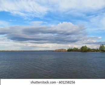 the island on the Volga river