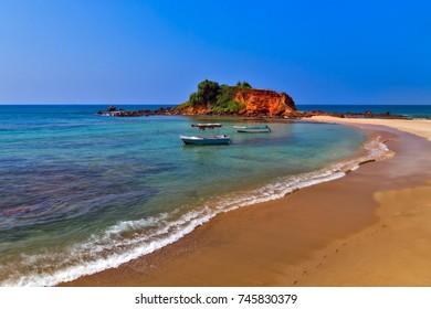 Island Parrot Rock Mirissa beach is our favourite beaches in Sri Lanka
