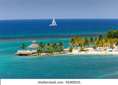 Island Peninsula in Ocho Rios, Jamaica
