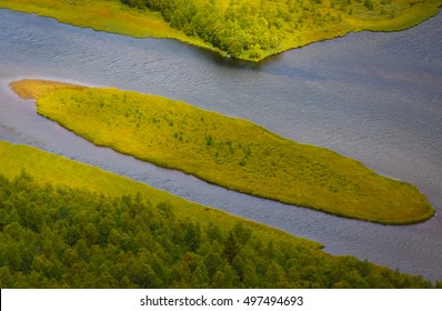 Island in river