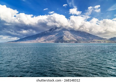Island of Samothraki in Aegean Sea Greece
