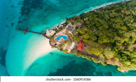 The island saw use as a prison for rebellious slaves in 1860s and also functioned as a coral mine
