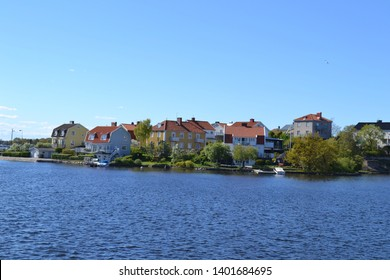 An island in the sea with beautiful houses and colors, Sweden Karlskrona
