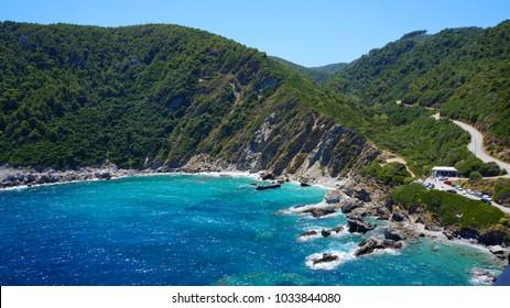 The island of Skopelos, Greece