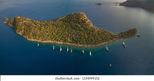 Island of St. Nicholas in Turkey is known for the Roman (later - Byzantine) settlement on the St. Nicholas island that at one time was one of the centers of Christianity