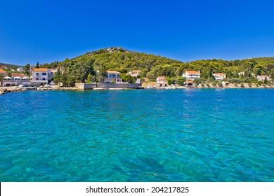 Island of Ugljan turquoise coast, Dalmatia, Croatia