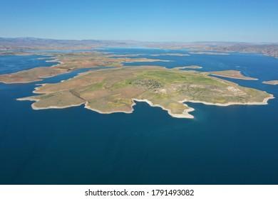 Islands in Elazig Provice Turkey Keban dam lake