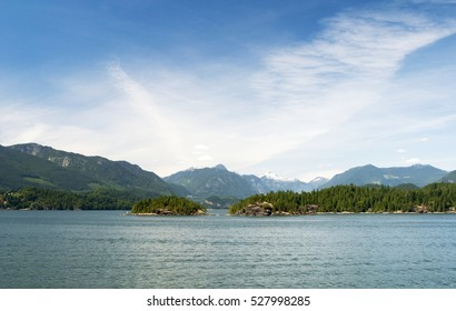 Islands in Howe Sound, near West Vancouver, British Columbia, Canada