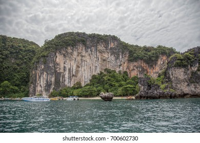 Islands and limestone mountains