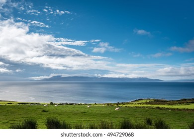 Isle of Arran under Cloud / At the southern end of the Cowal Peninsula, over the Sound of Bute, is the Isle of Arran
