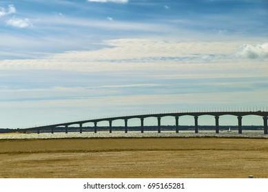 Isle de Re,connected to La Rochelle, France, by the bridge.