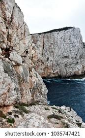 Isle of Foradada . Alghero Sardinia . Italy