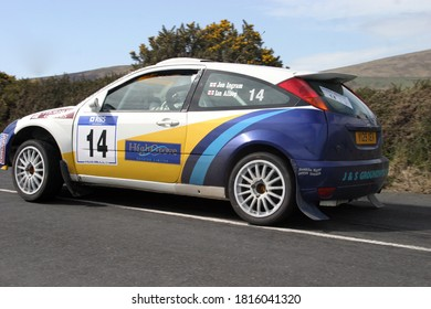 ISLE OF MAN, UNITED KINGDOM - May 06, 2006: Ingram Jon And Allsop Ian Going Past In Ford Focus RS WRC 02 At Manx National Rally 2006