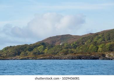 Isle of Mull Hills on Sea Shore