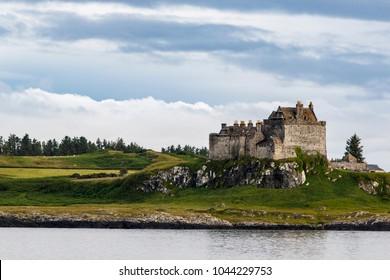 Isle of Mull, Scotland / United Kingdom - Jul 09 2017: Duart Castle.
