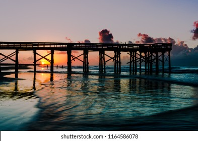 Isle of palms pier at sunrise