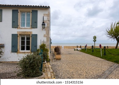 Isle of Re, France - May 09, 2019: House on Atlantic coast. La Flotte village on Ile de Re island in France.