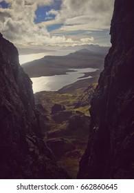 The Isle of Skye between Rocks