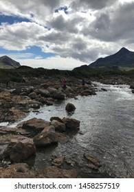 The Isle of Skye landscape of Scotland