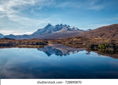 Isle of Skye, Scotland, UK. View over The Cuillin mountains