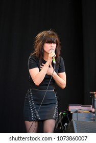Isle of Wight Festival - 11th June, 2017: Imelda May performing at IOW Festival, Seaclose Park Newport 11th June 2017 on the Isle of Wight, UK