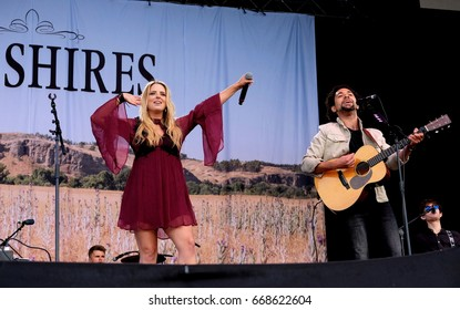 Isle of Wight Festival - 11th June, 2017:  British country duo The Shires performing at IOW Festival, Seaclose Park Newport 11th June 2017 on the Isle of Wight, UK