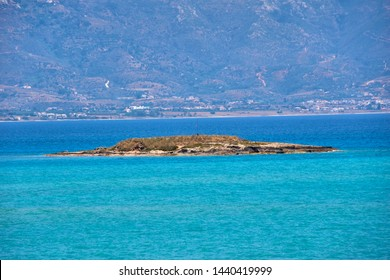 The islet of Pavlopetri located 400 m from the coast of Pounta beach near Elafonisos island where the remains of a sunken ancient settlement are preserved for 5,000 years. Lakonia, Peloponnese Greece
