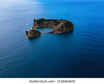 Islet of Vila Franca do Campo near San Miguel island, Azores archipelago, Portugal.